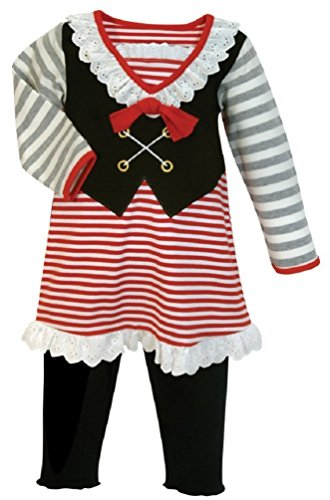 Stephan Baby 611044 Girl Pirate Outfit, 12-18 Months