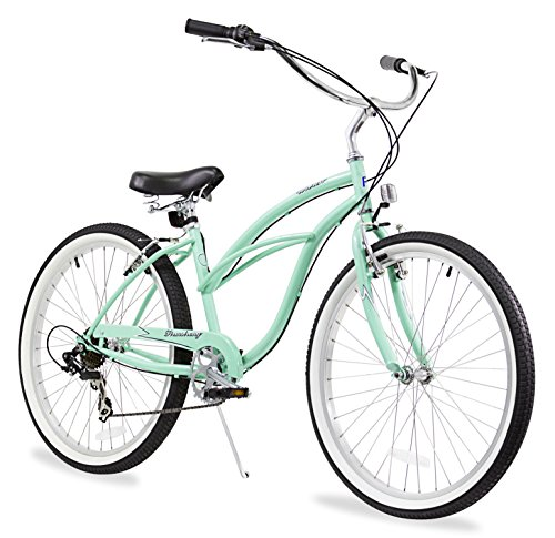 Firmstrong Urban Lady Seven Speed Beach Cruiser Bicycle, 26-Inch, Mint Green (Best Cruiser Bike Reviews)