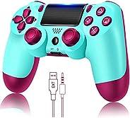 Controlador de jogo para PS4 sem fio Gamepad para PS4 / PS4 Pro / PC e laptop com vibração e função de áudio,