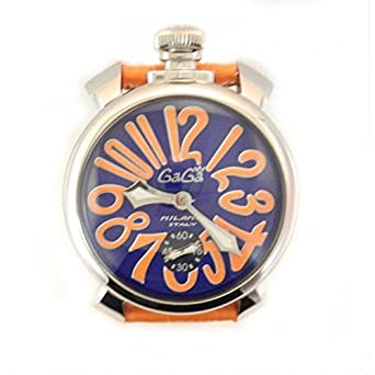 Uhr Gaga 'Herren 5010.08s Quarz (Batterie) Stahl Quandrante blau Armband Leder