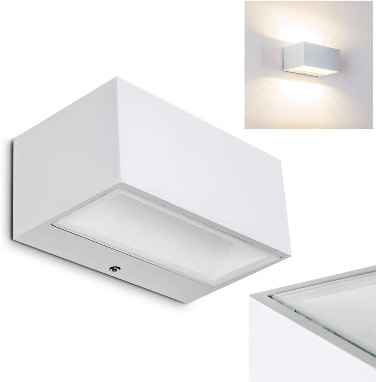 Spider – Lámpara LED exterior pared de metal color blanco – Lámpara de pared para exterior Fachada – Hofmeister – Jardín: Amazon.es: Iluminación