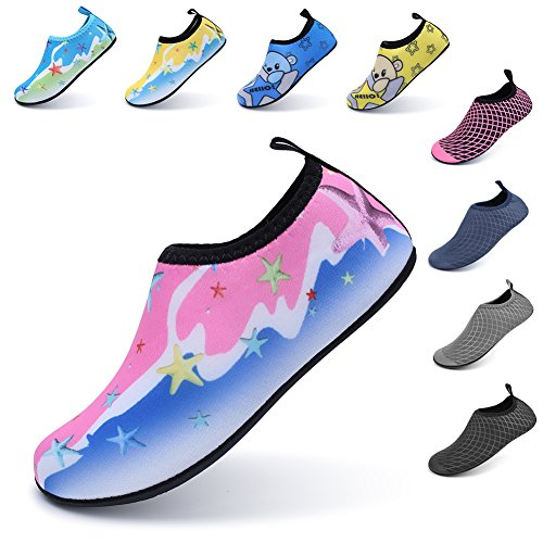 Pictures of LINGMAO Boys Water Shoes Barefoot Swimming Skin DD5050 7