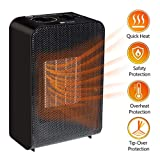 Ceramic Space Heater ETL Listed Electric 1500W Fast Heat Heater Portable Desktop Heater, 2s Quick Heat-up Tip-Over & Overheat Protection for Home and Office For Sale
