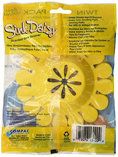 Amazon.com: Compac Sink Daisy Scented Sink Strainer, Strawberry, 2 Count:  Health U0026 Personal Care