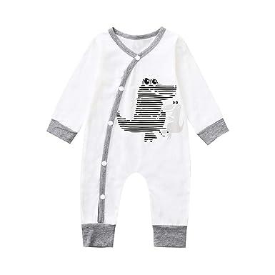 DAY8 Vêtement Bébé Garçon Naissance 0-24 Mois Pyjama Bébé Garçon Hiver Body  Combinaison Bébé 1a20af42183