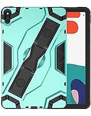 جراب بمسند لهاتف Huawei MatePad مقاس 10.4 بوصة متين وقوي مقاوم للصدمات مصنوع من البولي كربونات والبولي يوريثان الحراري مزود بحزام يد قابل للحمل وحامل بتصميم Escort Hybrid - أخضر