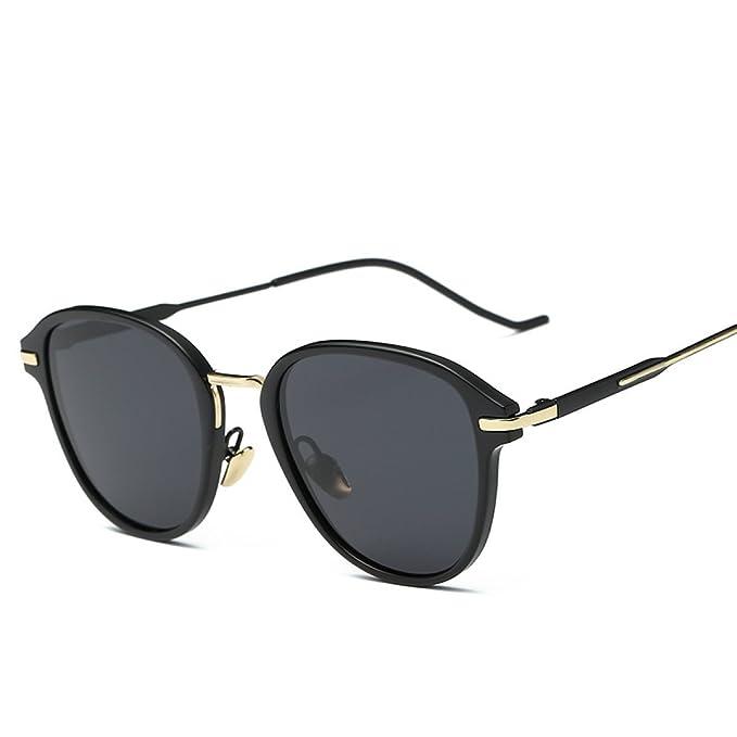 WKAIJC Art Und Weise Polarisierende Persönlichkeit Kreativität Komfort Freizeit Mode Retro Männer Und Frauen Sonnenbrillen,A
