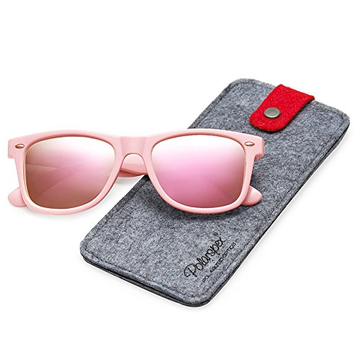 POLARSPEX POLARIZED UNISEX 80'S RETRO CLASSIC TRENDY STYLISH SUNGLASSES (Princess Pink | Pink Quartz, - Sun Pink Glasses