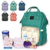 Diaper Backpack, Large Capacity Baby Bag, Multi-Function Travel Backpack Nappy Bags, Nursing Bag, Fashion Mummy, Roomy Waterproof for Baby Care, Stylish and Durable by Jewelvwatchro (Green)