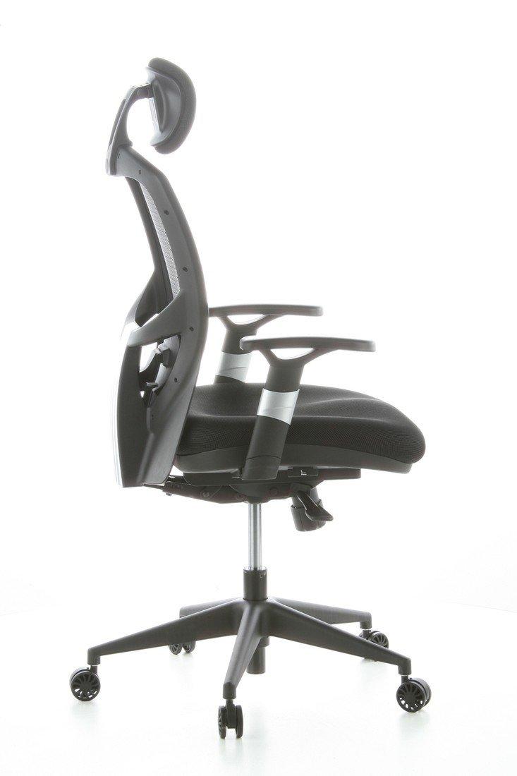 Drehstuhl ergonomisch  hjh OFFICE 657100 Bürostuhl Chefsessel VENUS BASE Netzstoff ...