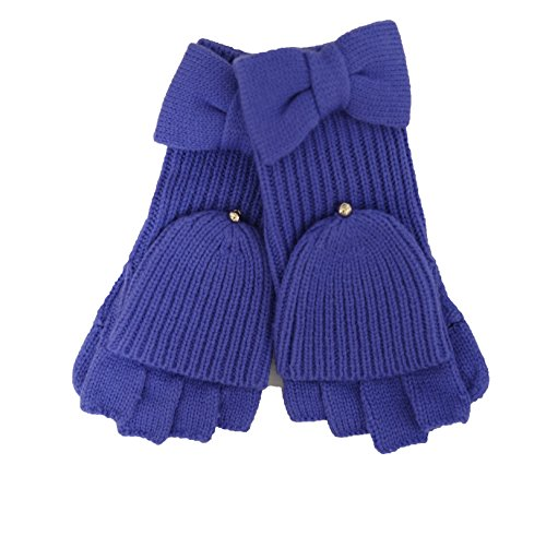 Kate Spade New York Bow Flip-Top Mittens (Ensemble Blue)