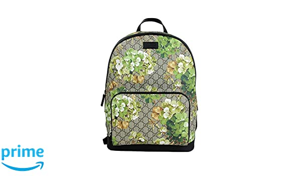 ef2eeeba7eaf Amazon.com  Gucci Unisex Beige Brown Bloom GG Coated Canvas Backpack 406370  8966  Sports   Outdoors