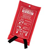 Emergency survival Fiberglass Fire Blanket Shelter Safety Cover ideal for the kitchen, fireplace, grill, car, camping (39x39 in)