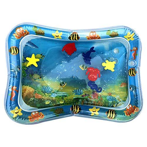 Wasserspielmatte Baby Wasserkissen Spielmatte Aufblasbare Spielzeug 66x50cm Blau