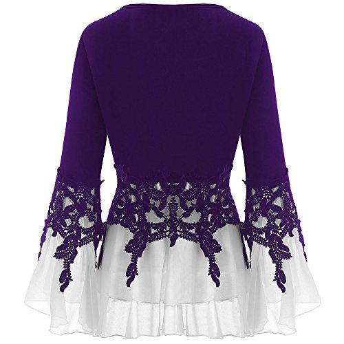 Femme Women's Chemisier Violet clothing BISOZER v7Oxnq67