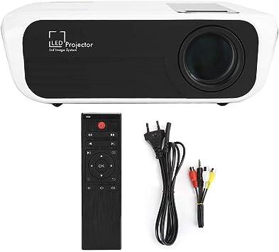 Opinión sobre Proyector 1080P, proyector de Cine en casa con Altavoz Incorporado de Alta definición portátil T8, Compatible con AV/USB/HDMI/IR(Blanco)