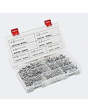 WilTec Aluminium Blinde Klinknagels Set 400st. in 6 verschillende klinknagelmaten