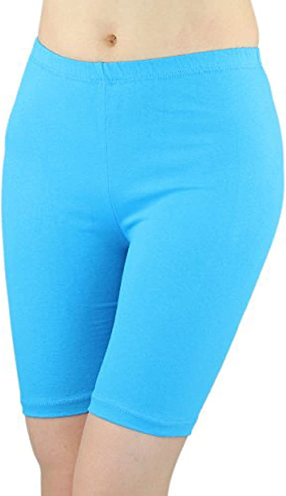 Elegance Womens Stretchy Cotton Lycra Above Knee Bike Shorts Active Leggings