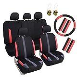 girl car seat covers full set - Leader Accessories Sport Mesh Low Back Full Set Car Seat Covers for women girls - 17pcs,Tangerine Color