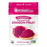 Pitaya Plus Freeze Dried Red Dragon Fruit Powder Organic. 4 Ounces of 100% Dragon Fruit for the Brightest Pink Rceipes. USDA and Oregon Tilth Organic, Non-GMO, Earth Kosher, Vegan Verified, B-Corp.