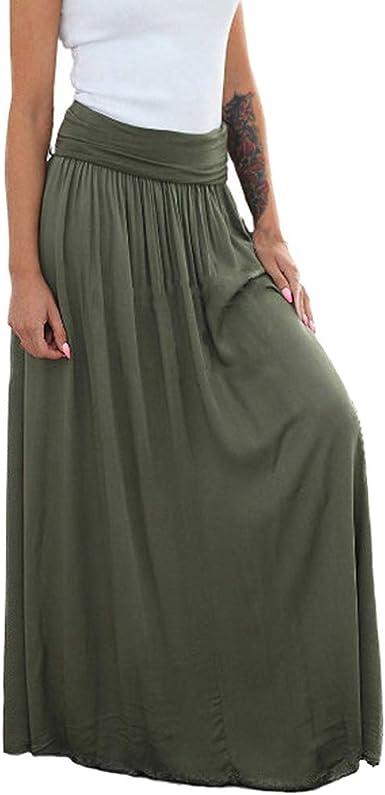 Faldas Largas Y Elegantes Faldas Cortas Mujer Verano Faldas ...