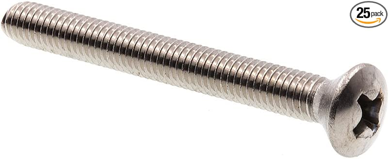 Oval Head #6-32 X 3//8 in Phillips Drive Grade 18-8 Stainless Steel Prime-Line 9010447 Machine Screws 25-Pack
