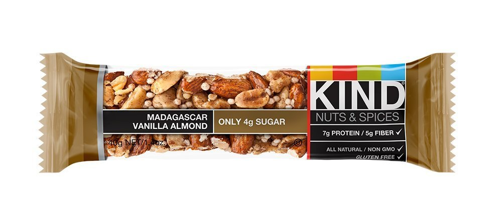 KIND Nuts & Spices zsada Bars - Madagascar Vanilla Almond - 6 Count by KIND