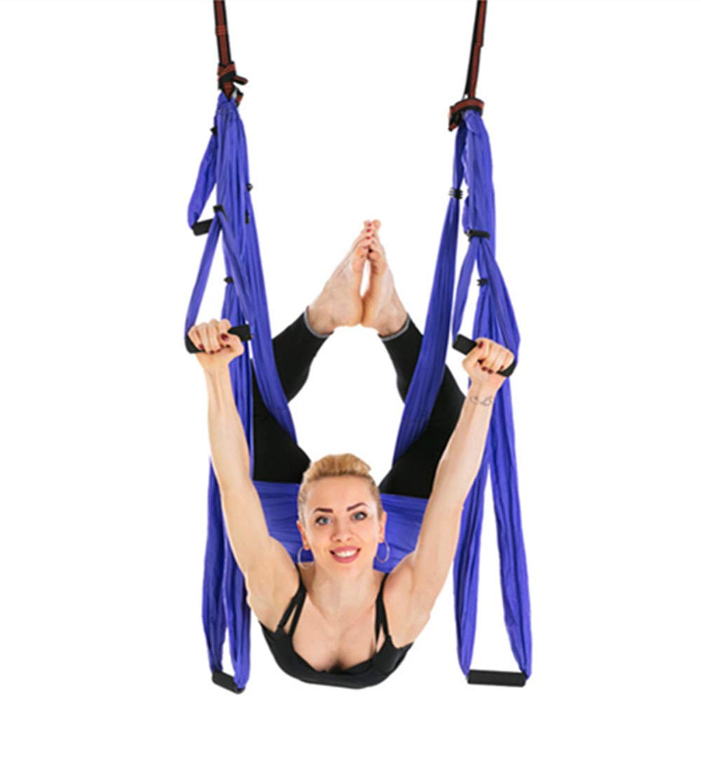 Bormart Aerial Yoga Swing - Ultra Strong Antigravity Yoga Hammock/Trapeze/Sling for Air Yoga Inversion Exercises - Include 2 Extensions Straps, Carabiners and Carrying Bag