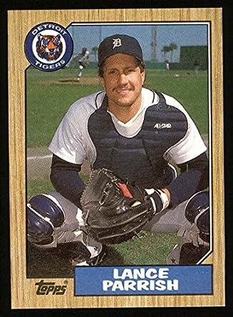 Amazoncom 1987 Topps 791 Lance Parrish Detroit Tigers Baseball
