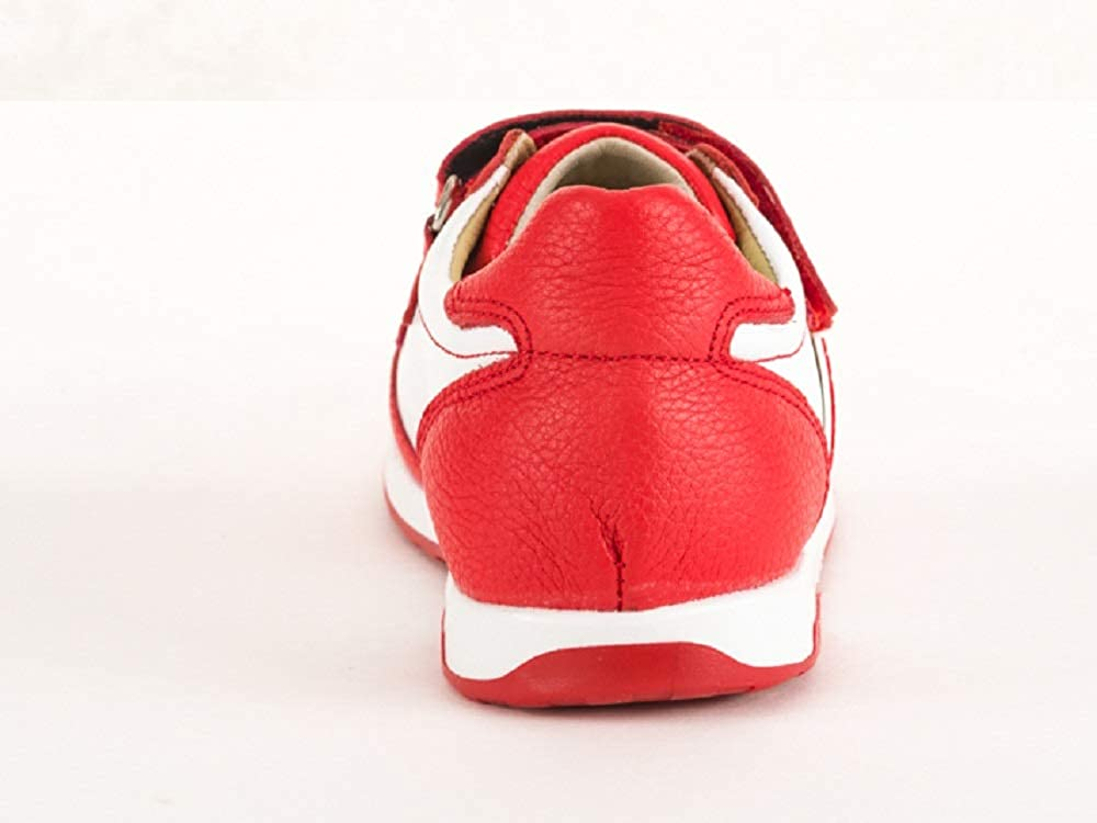 Tukyys Baby Shoes Breathable Leather Sneakers Soft Insole Shoes Non Skid Rubber Sole Runners White Baby//Toddler//Little Kid Red