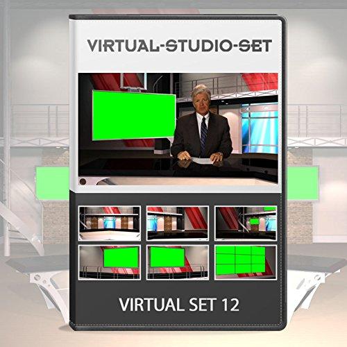 Amazon com: Virtual Studio Set 12 - News Production Background Kit