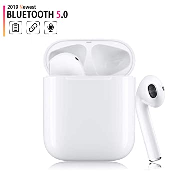 Bluetooth Headphones,Bluetooth 5.0 Wireless Earbuds,Noise Canceling 3D Stereo IPX5 Waterproof Sports Headset,Pop-ups Auto Pairing,Compatible with Apple Airpods Android//iPhone