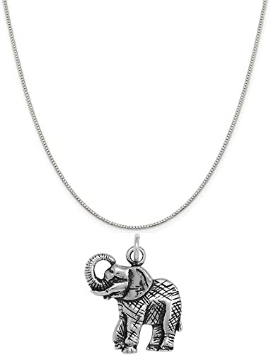 Raposa Elegance Sterling Silver Number Three Charm on a Sterling Silver 20 Cable Chain Necklace