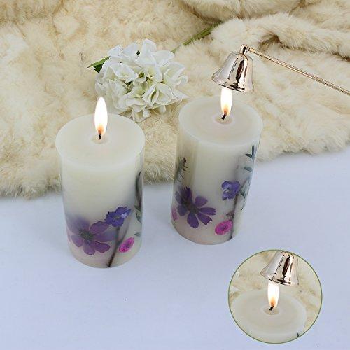 LOHOTEK Scented Candles White Tea Candle Soy Wax, Botanical Pillar Candles by LOHOTEK (Image #3)