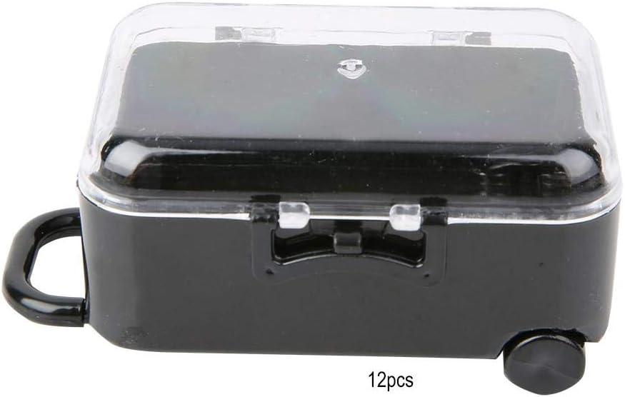 12 unids mini forma de maleta de viaje rodante caja del caramelo favor de la boda regalo de la decoración[Negro]