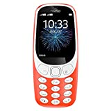 Nokia 3310 3G - Unlocked Feature Phone (AT&T/T-Mobile/MetroPCS/Cricket/H2O) - 2.4'' Screen - Warm Red - U.S. Warranty