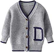 Baby Boys Girls Striped Knitted Sweater Tops Clothes Set for Toddler Kids Newborn Long Sleeve Crochet Cardigan