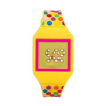 Reloj para niños, reloj digital de silicona para niños, esfera grande, diseño de
