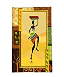 Interestlee Fleece Throw Blanket African Decor Ethnic Girl Dancing Exotic Zulu Cultural Figure Tribal Fashion Artsy Design Amber Brown