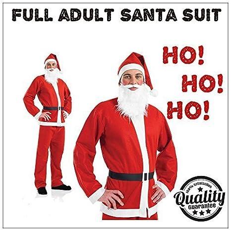 Garden Mile Adulto Traje de Santa Papá Noel Disfraz de lujo para hombre Navidad COMPLETO Disfraz