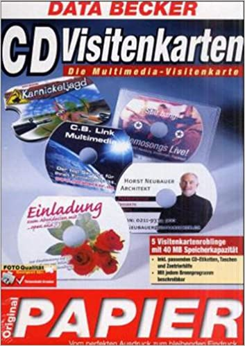 Data Becker Original Papier Cd Visitenkarten 5 Cd Rohlinge