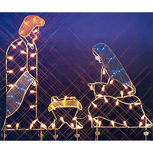 Outdoor Lighted Nativity Silhouette - 1