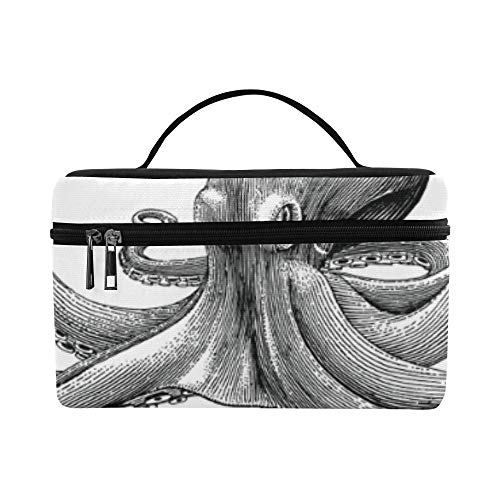 Embroidered Octopus Tropical Fish Pattern Lunch Box Tote Bag Lunch Holder Insulated Lunch Cooler Bag For Women/men/picnic/boating/beach/fishing/school/work