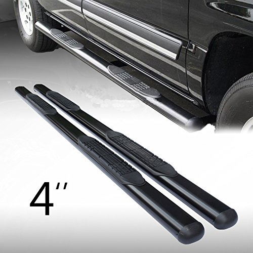 """New 4"""" Oval Tube Black Carbon Steel Side Step Rails Nerf Bar Running Boards Fit 2005-2016 Toyota Tacoma Double / Crew Cab (w/ 4 Full Size Doors) hot sale"""
