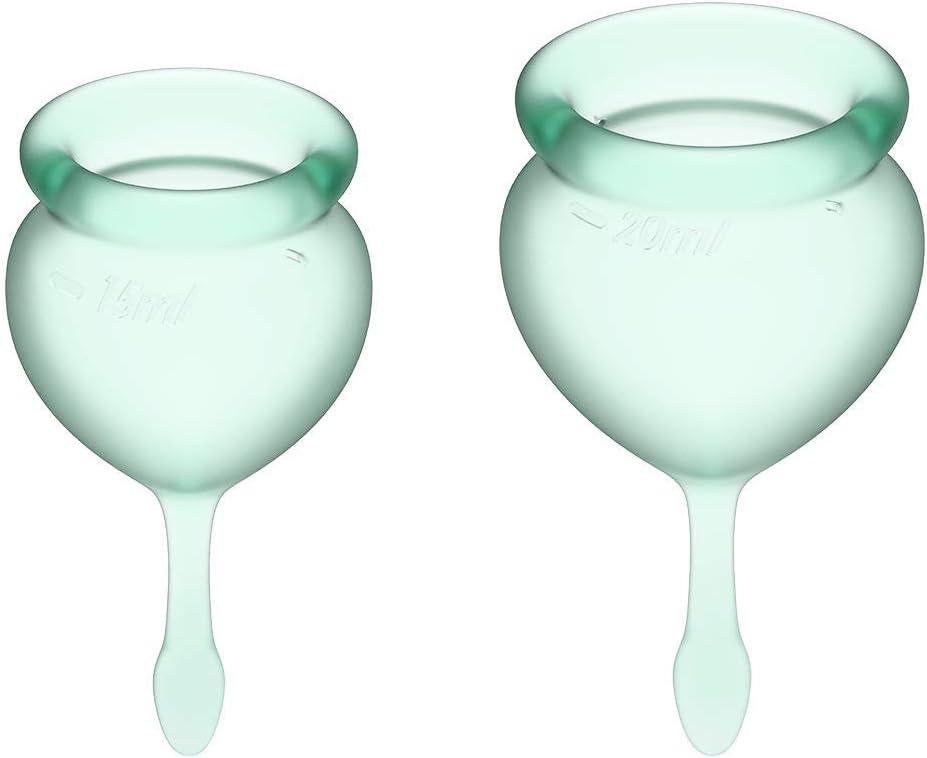 Satisfyer Feel Good - Menstrual Cup Set, 15 & 20 ml: Amazon ...