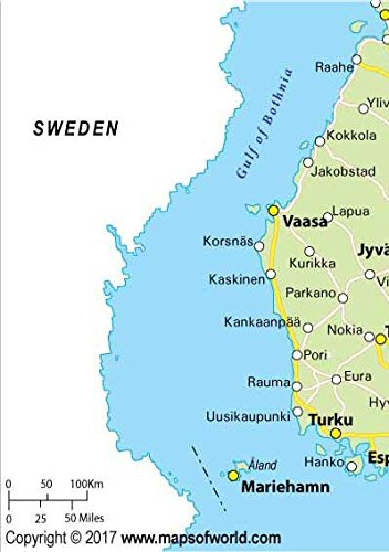 Amazoncom Finland Highway Map 36 W x 5085 H Office Products