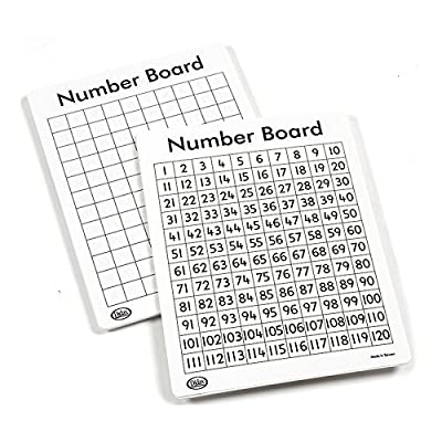 Didax Educational Resources Write On/Wipe Off 120 Number Mats (10 Pack): Toys & Games