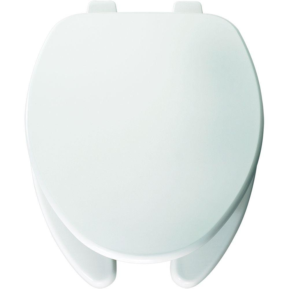 Bemis 595 000 Elongated Open Front Toilet Seat, White Clauss CH 7F595 000