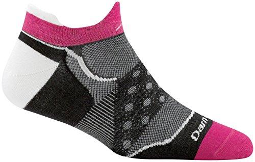Darn Tough Vermont Womens Dot No Show Ultra Light Socks Black LG (US 10-11.5)