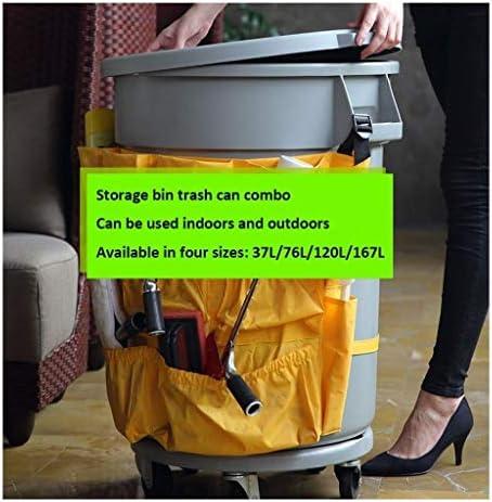 ゴミ袋 ゴミ箱用アクセサリ 大容量のプラスチック製ゴミ箱が付いているふた産業レストランの台所ゴミ水生輸送用バレル収納バケツ キッチンゴミ箱 (サイズ : 76L)